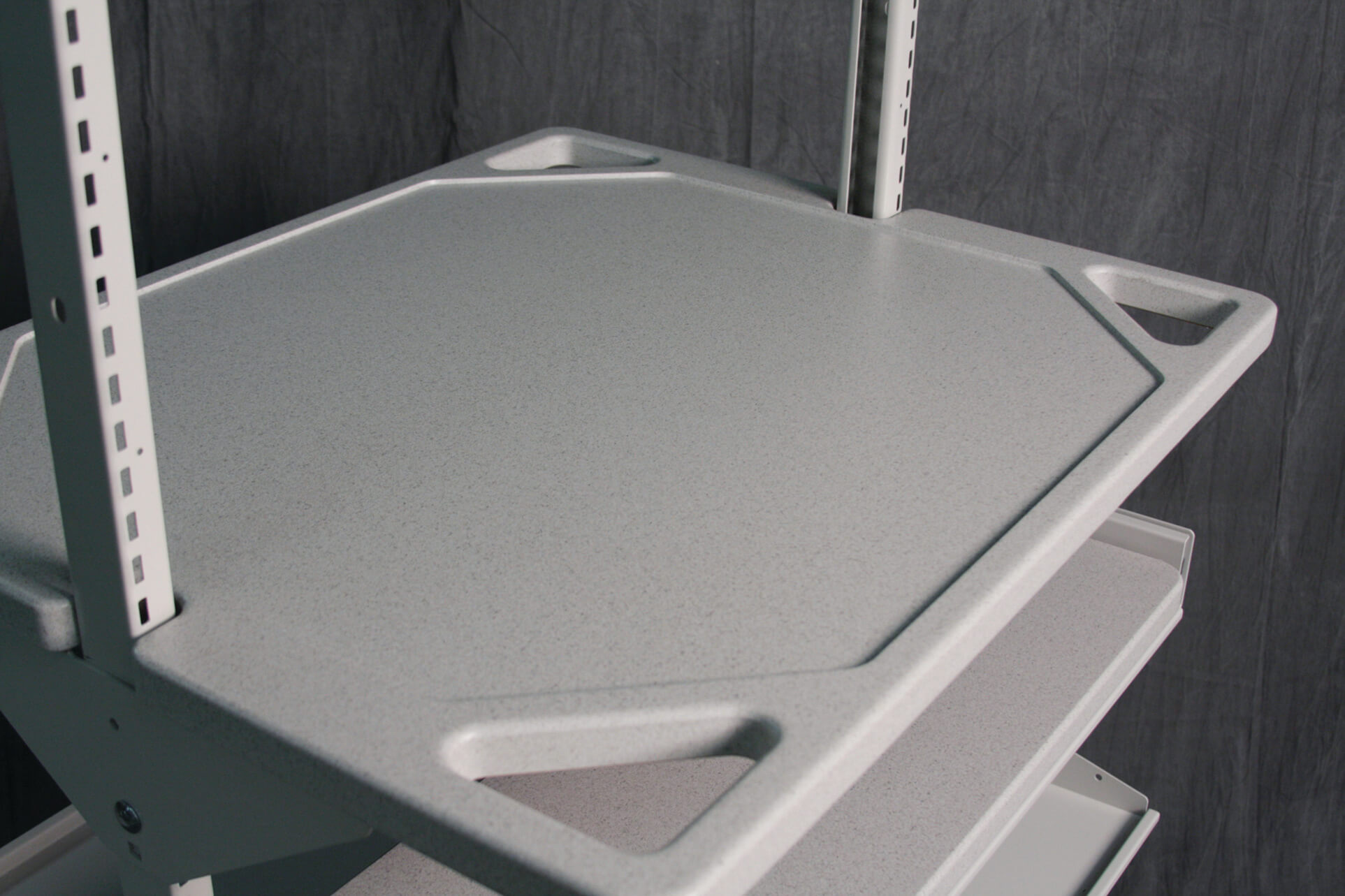 Durable Work Surface for modular shelving and modular cart systems