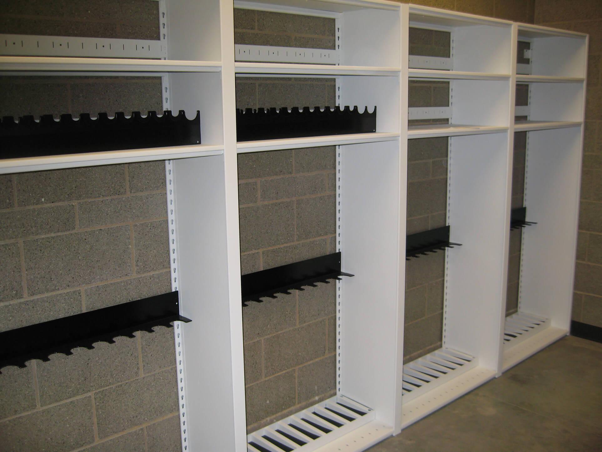 Empty weapons rack and pistol rack