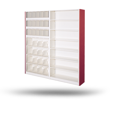 4-Post static metal shelving
