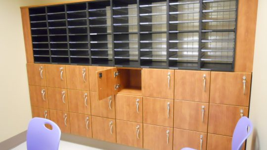 Mail Sorter with small lockers