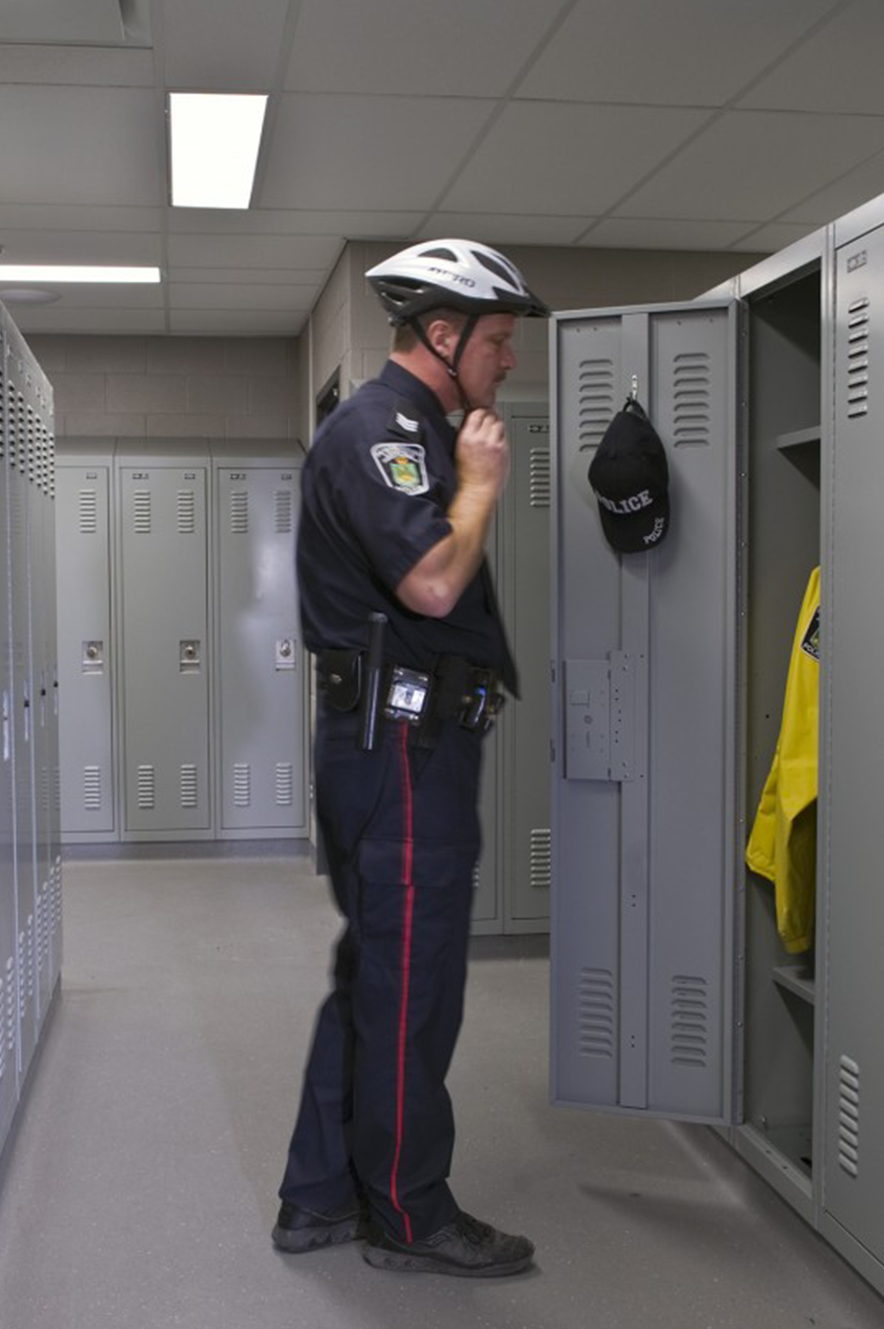 Ventilated doors and hasp locks are just a few of the features of the personal storage lockers at Peterborough Police Department