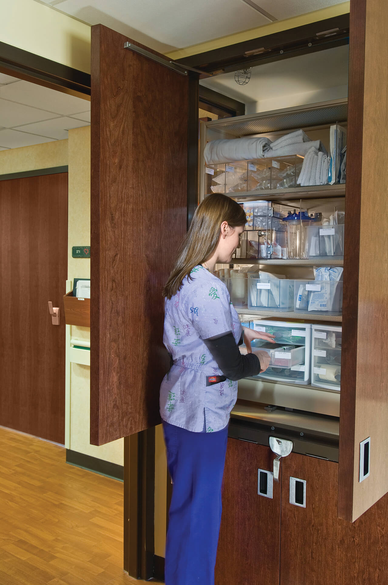 CoreStor Patient Server allows easy access inside the patients room