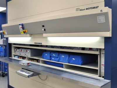 Rotomat used for Central Sterile supply storage