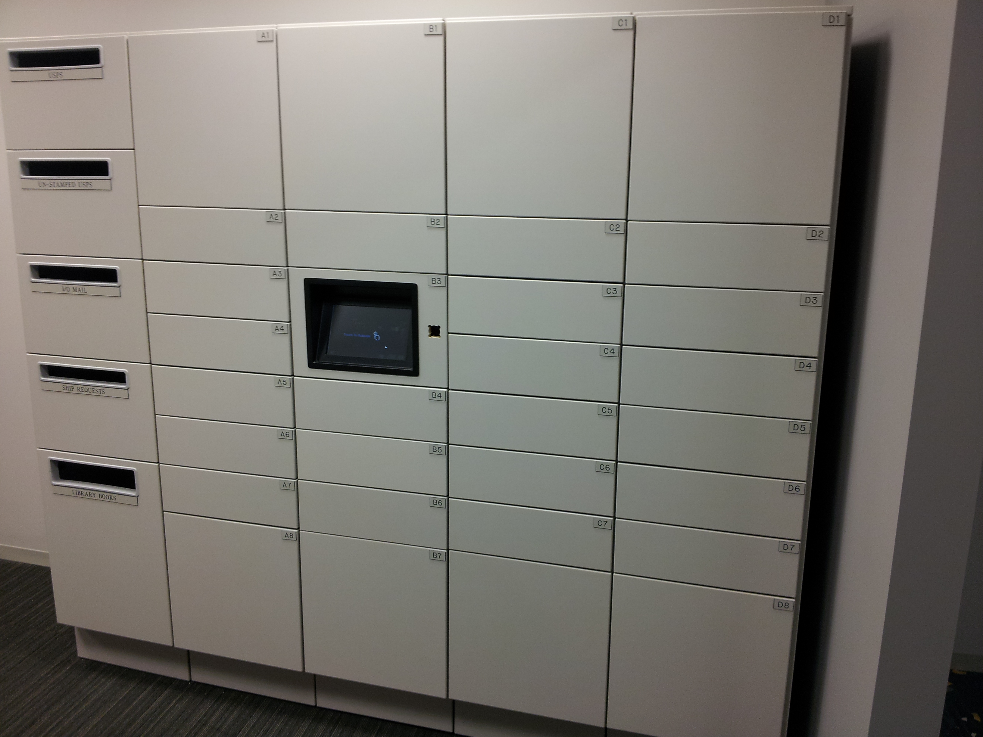 White Smart Locker