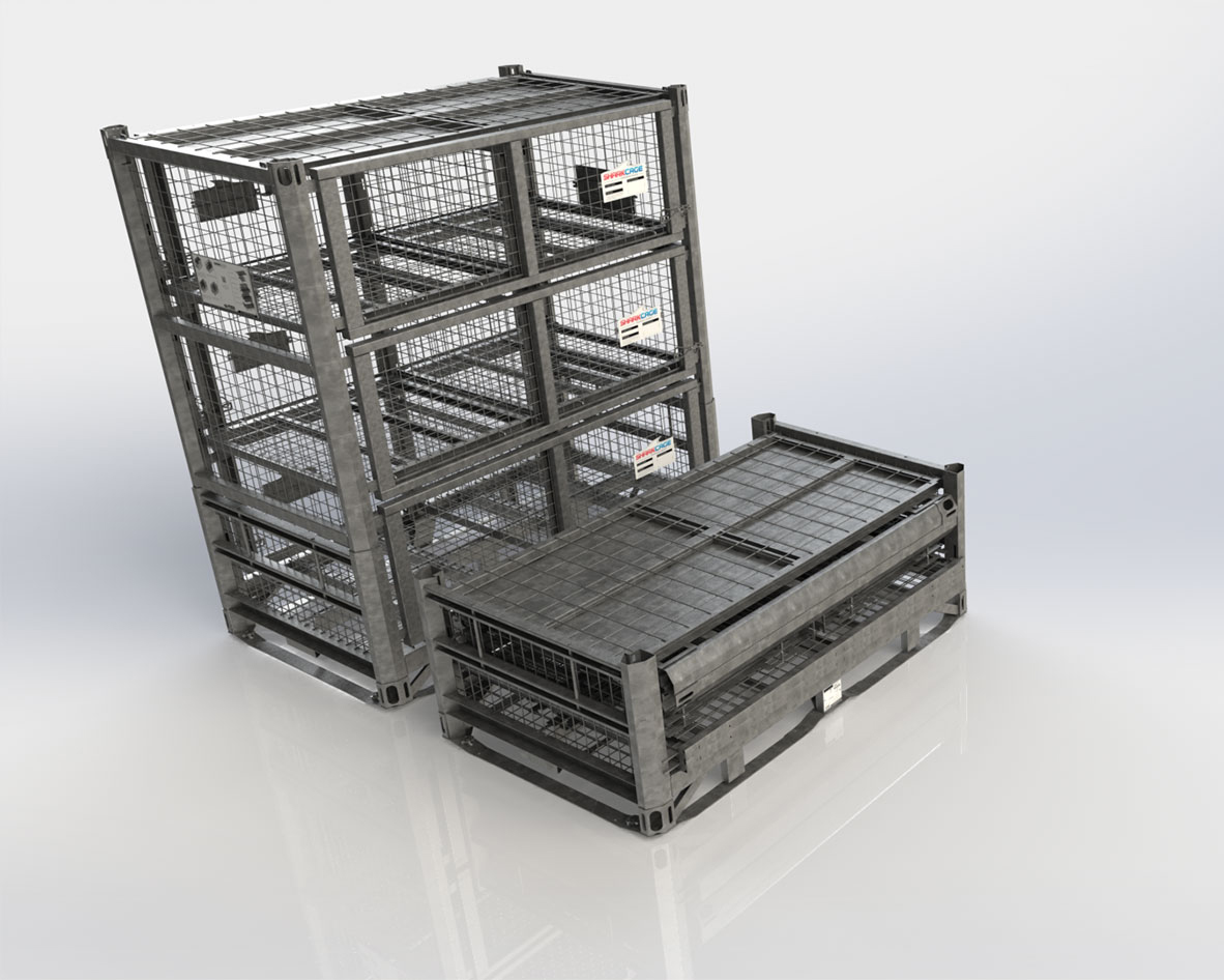 Deployable Military Container is Collapsable for Easy Return