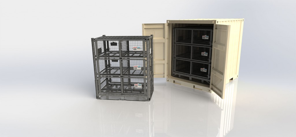 Deployable Military Container Set in Shipping Container