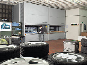 Vertical Auto Parts Storage