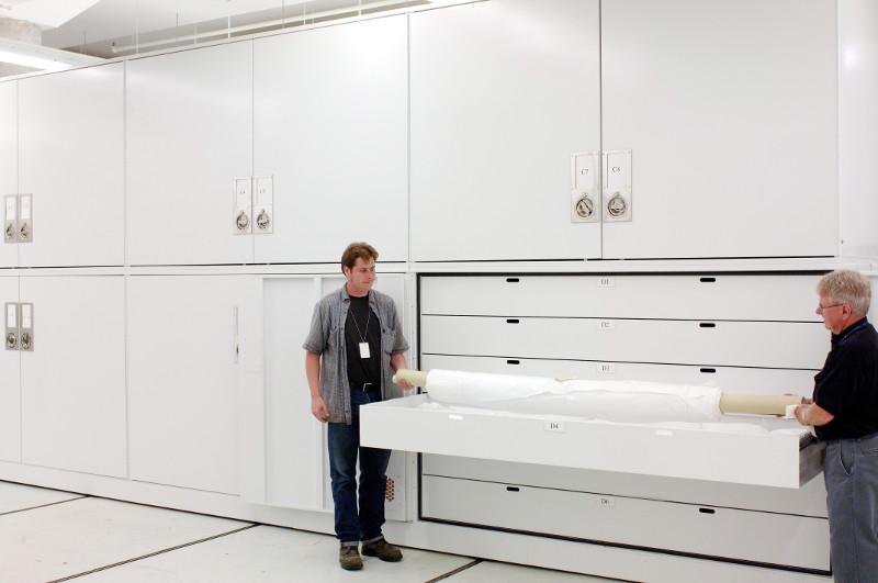 Large Drawer storage in museum