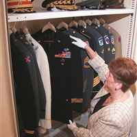 Military Uniform Museum storage