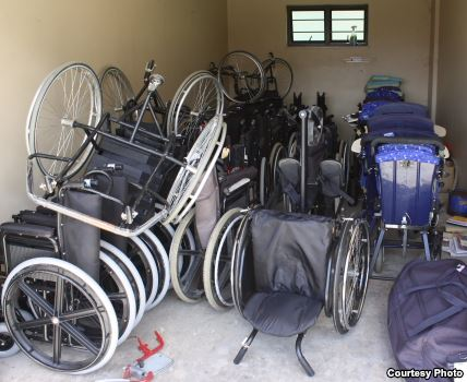 Location in need of our wheelchair storage system