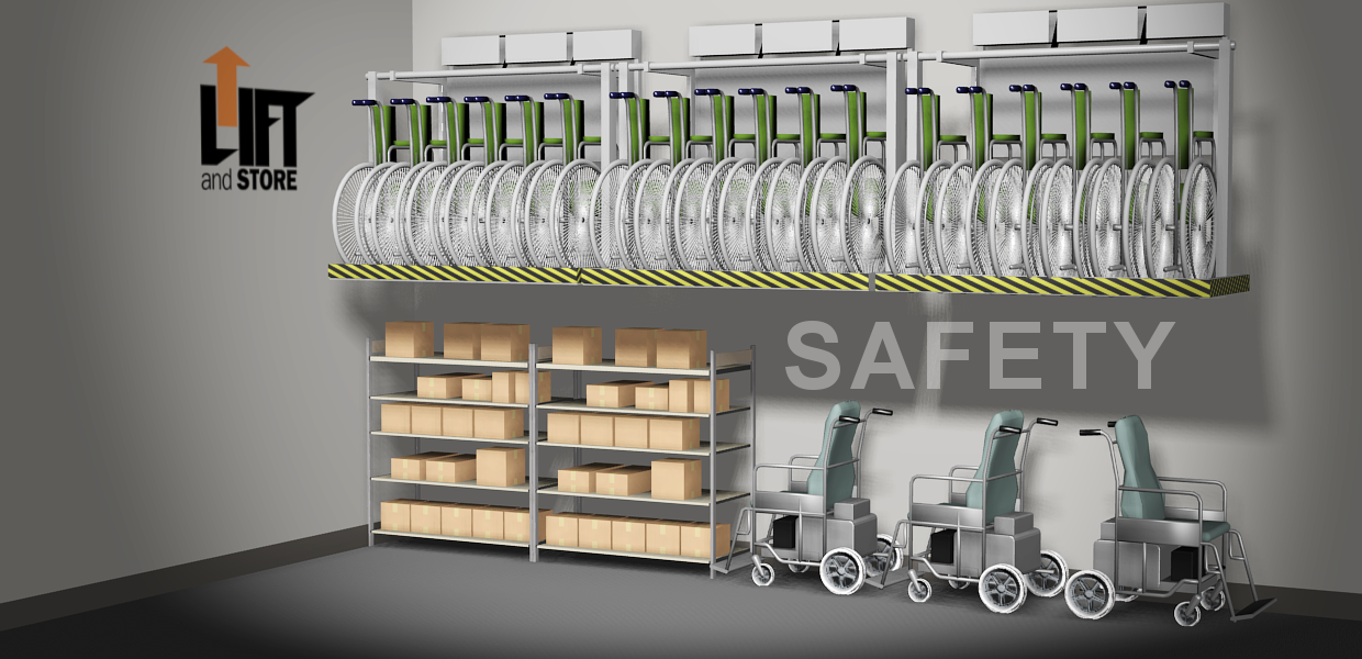 Safety and wheelchair storage