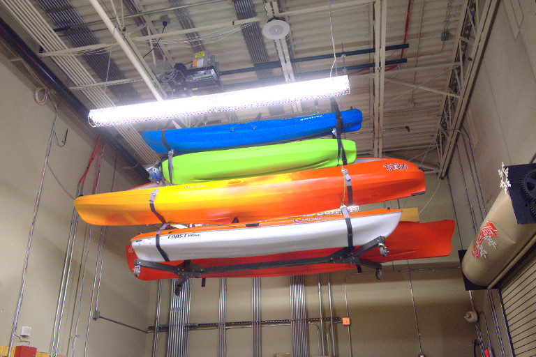 Kayak and Canoe overhead storage