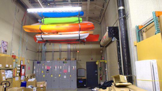 Overhead Canoe Storage