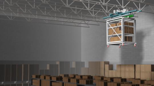 Overhead security cart storage