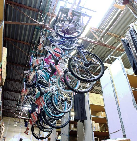 Lift n Store overhead bike storage