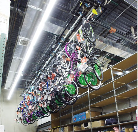 Store your assembled bikes safely off the ground