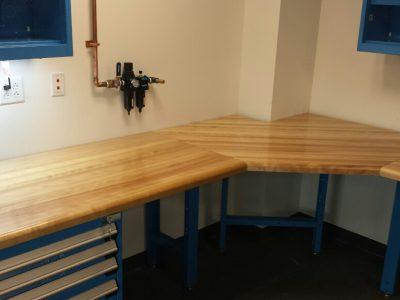 Custom Built work area with Rousseau