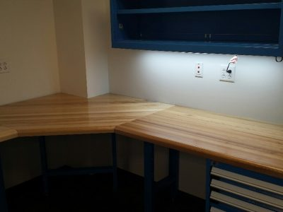 Desk system with Rousseau drawers