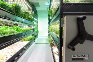 Hydroponic Shelves that Move from Spacesaver Storage Solutions
