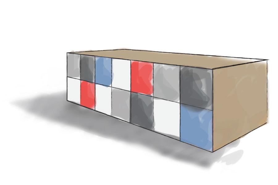 Day Use Locker Island Workspace Storage