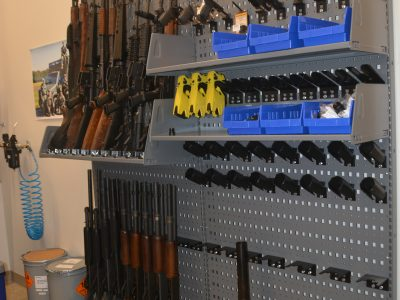 Law enforcement gun storage