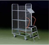 Order cart with ladder