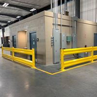 Keep your office safe in the warehouse with guard rails
