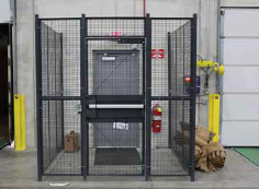 Driver cage at the warehouse