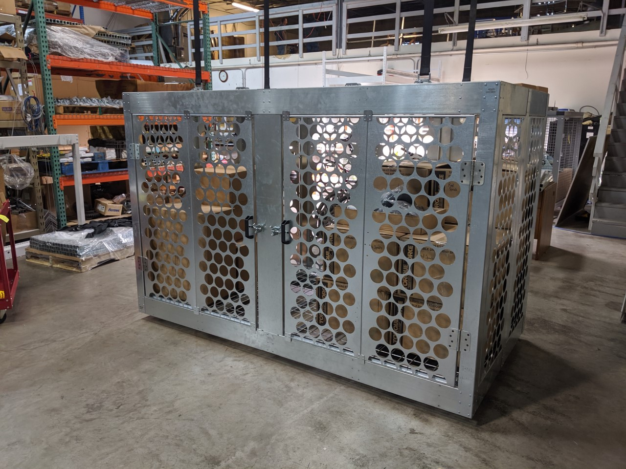 overhead storage for warehouse