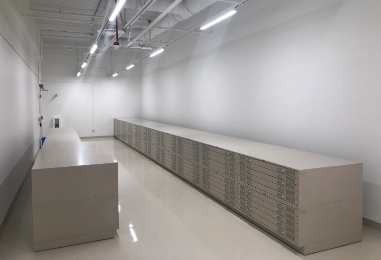Museum Storage with perforated cabinets