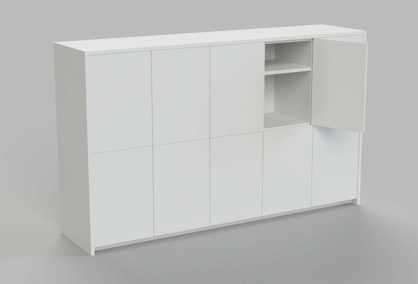 Touchless Locker option with shelving