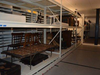 Civil War Era pieces being stored neatly