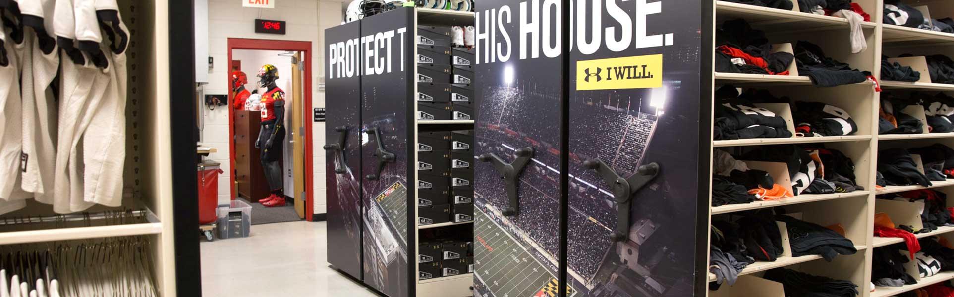 College Sports Uniform Storage