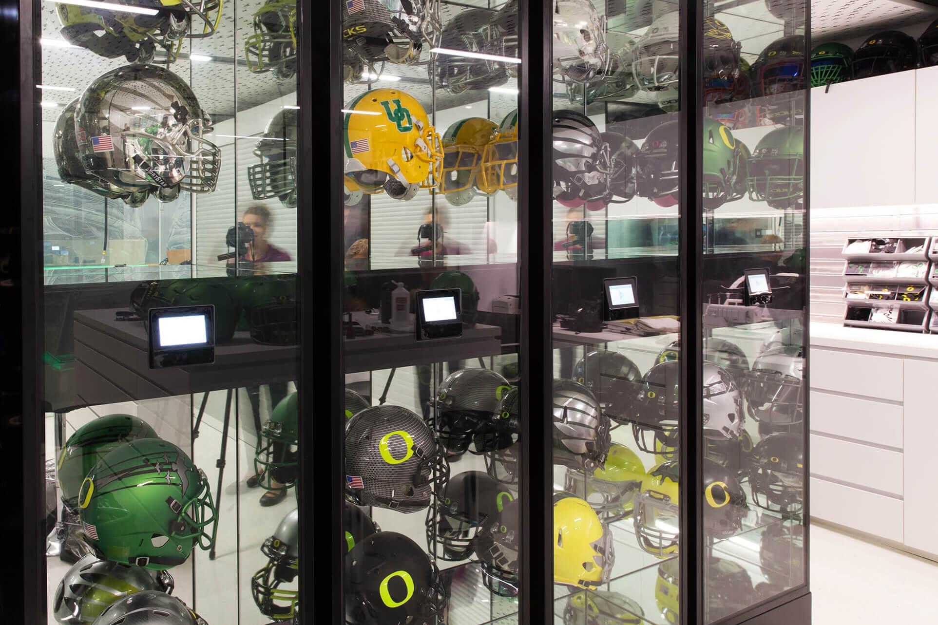 Football Helmet Display Storage