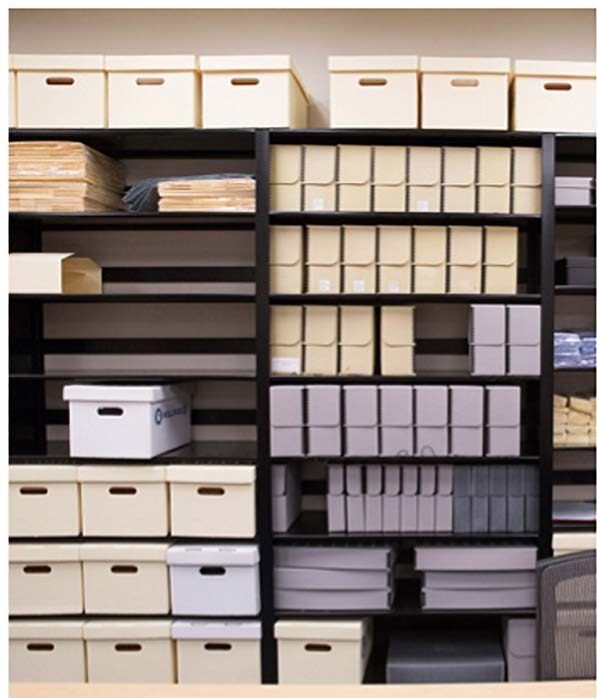 Archival storage at the Museum
