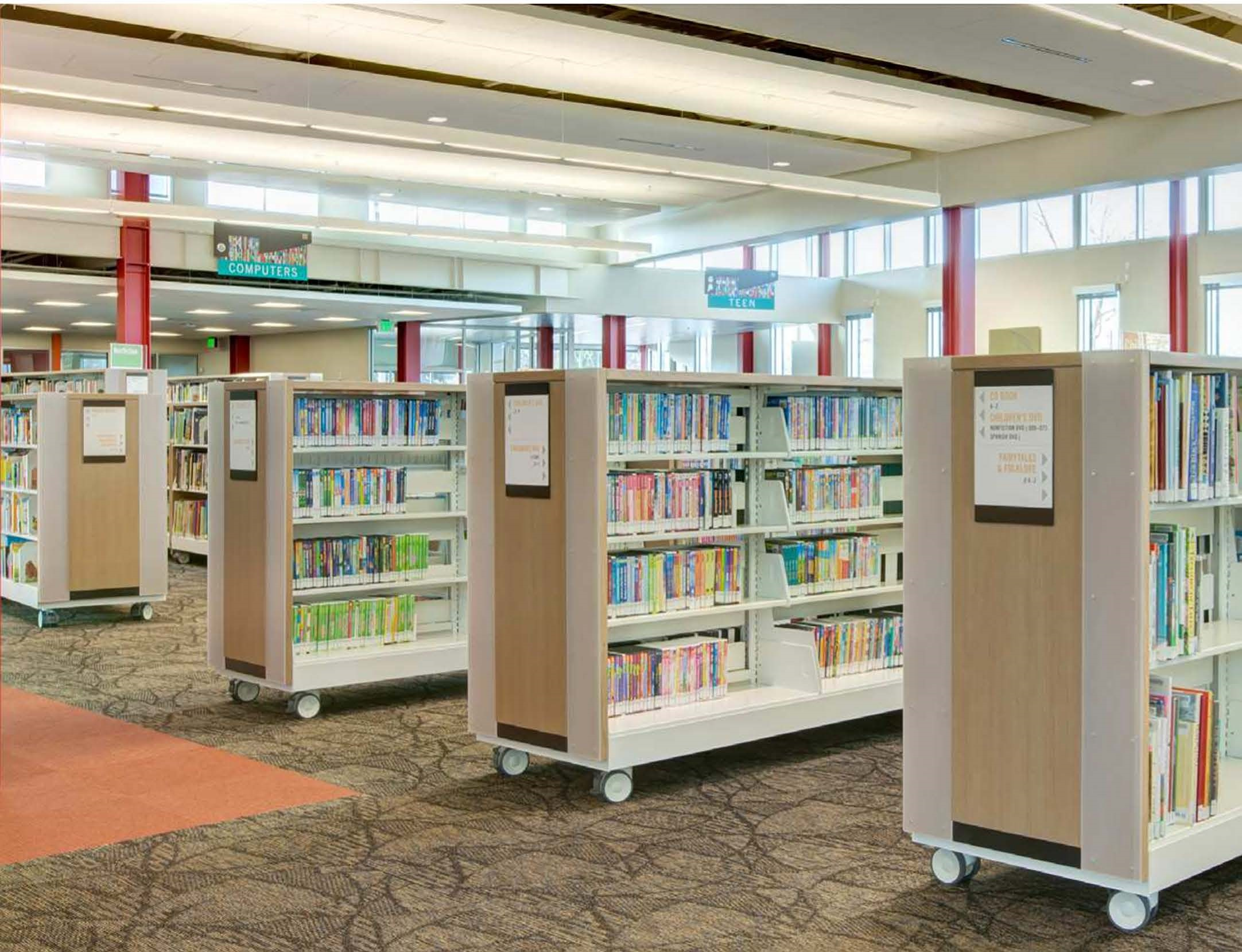 Library Cantilevered Book Carts