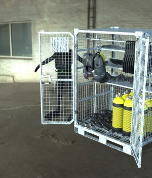 Deployment Locker for Diving Gear Storage