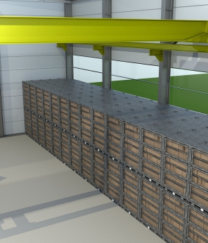 Deployment Lockers Stacked for Compact Garrison Storage