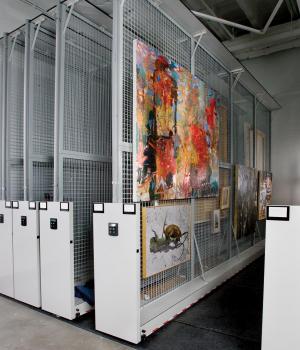 Mobile Art Display Storage