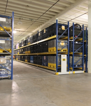Warehouse racking system storing oversized evidence