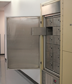 Refrigerated evidence locker with multiple compartments