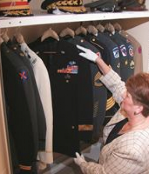 Military Uniform Museum storage