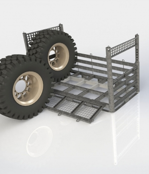 Deployable Wheel Rack