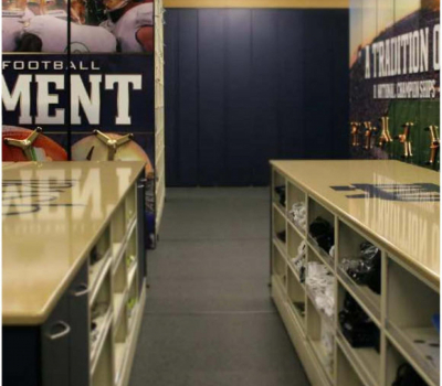 Various types of Athletic Equipment Storage