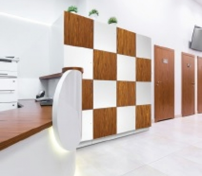 Day Use lockers for employees in reception area