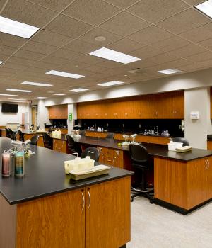 Modular Casework in College Lab