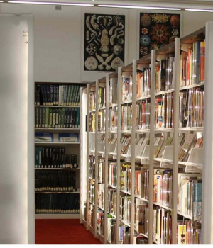 LED Lined Bookcases to increase lighting in the stacks