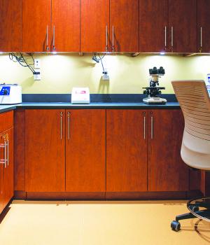 Doctor's exam room modular casework