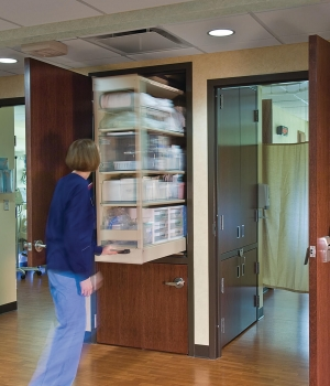 Patient Server allows easy access to supplies outside of the room