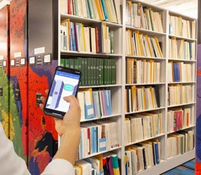 College Student accessing books using personal device